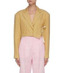 'la veste santon' pin stripe crop blazer