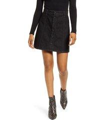 women's ag kety snap front denim skirt