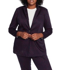 plus size women's court & rowe scatter dot blazer