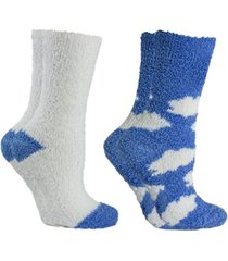 minxny women's soft fuzzy cloud slipper socks, 2 pairs