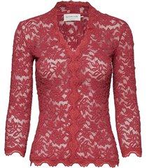 t-shirt 3/4 s gebreide trui cardigan rood rosemunde