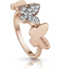 anillo guess love butterfly/ubr78005-56 - oro rosa