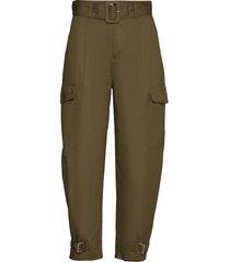 tjw high rise belted pant pantalon met rechte pijpen groen tommy jeans