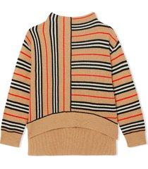 burberry sand asymmetric sweater