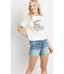 maurices womens ligh wash americana fray hem 3.5in shorts blue