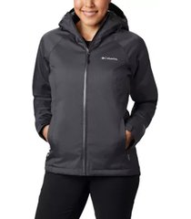 chaqueta mujer gris oscuro  top line insulated rain columbia