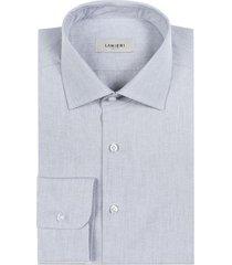 camicia da uomo su misura, canclini, recycle grigia pinpoint, quattro stagioni | lanieri