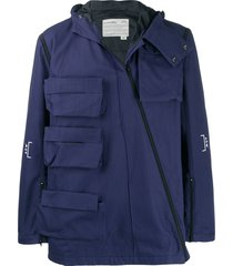 a-cold-wall* multi-pocket cargo jacket - blue