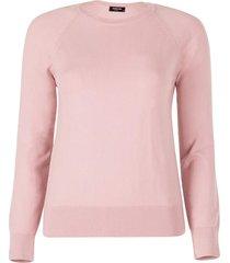 blusa anselmi decote redondo rosa