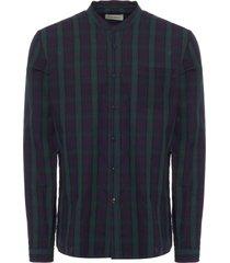 oliver spencer navy grandad shirt osms126