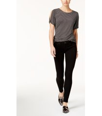 true religion halle mid rise skinny jeans in way back black