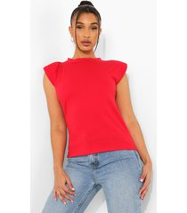 mouwloos t-shirt, red