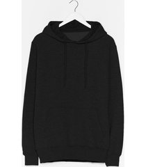 womens you better pullover oversized hoodie - black