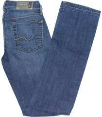 7 for all mankind women's classic straight leg jean in kc blue