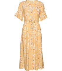 adore dress jurk knielengte geel odd molly