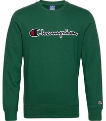 crewneck sweatshirt sweat-shirt tröja grön champion