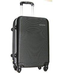 maleta fibra policarbonato mediana 24 pulgadas 4 ruedas - negro