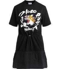 black kenzo dress for kansaiyamamoto with cheetah print