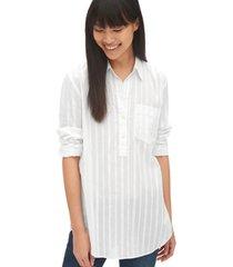 blusa boyfriend stripe blanco gap