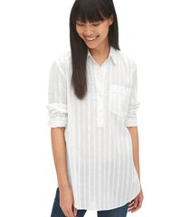 blusa boyfriend stripe blanco gap