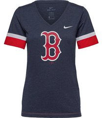 boston red sox nike mesh logo fashion vneck t-shirt t-shirts & tops short-sleeved blå nike fan gear