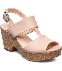maritsa glad sandal med klack rosa clarks