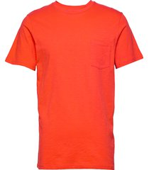 the organic tee w. pocket t-shirts short-sleeved orange by garment makers
