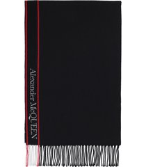 alexander mcqueen wool and cashmere scarf