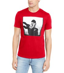 ax armani exchange men's slim-fit ax hand graphic t-shirt