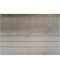 jogo americano textilene 45 x 30cm gourmet chevron marrom