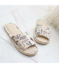 eva ropa zapatos sandalias ropa interior de algodón home zapatos zapatillas de tela