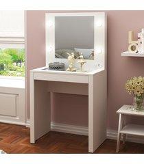 penteadeira 1 gaveta com espelho branco pe2017  - tecno mobili