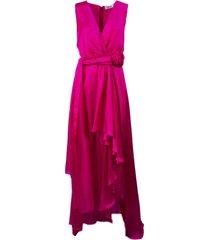 blumarine long silk dress