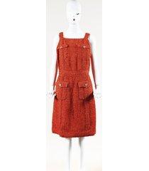 chanel havana tweed dress