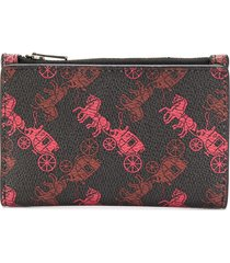 coach all-over print wallet - black