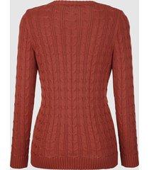 tröja med flätmönster dress in roströd