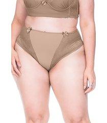 calcinha sempre sensual lingerie chic marrom claro - kanui
