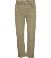 brunello cucinelli cotton denim trousers