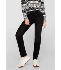 jeans slim medium rise negro esprit