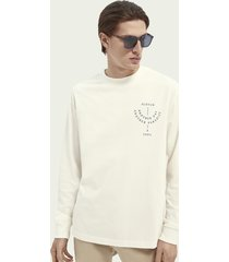 scotch & soda artwork print organic cotton long-sleeved t-shirt