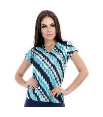 camiseta dry fit waves cajafit azul