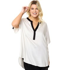 blusa natural circe plus size