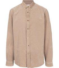 brunello cucinelli corduroy button down shirt - brown