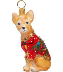 joy to the world chihuahua ugly christmas sweater