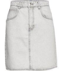 mom denim skirt kort kjol grå gina tricot