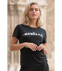 colourful rebel 9333 le rebelle classic t-shirt black women colourful