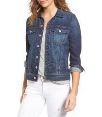 women's 7 for all mankind classic denim jacket, size medium - blue