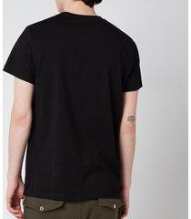 balmain men's printed crest t-shirt - black - xxl