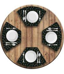 jogo americano   para mesa redonda wevans presentes  love decor - multicolorido - dafiti