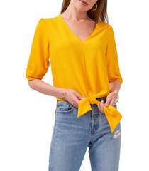 1.state tie front blouse, size xx-large in sunflower yellow at nordstrom